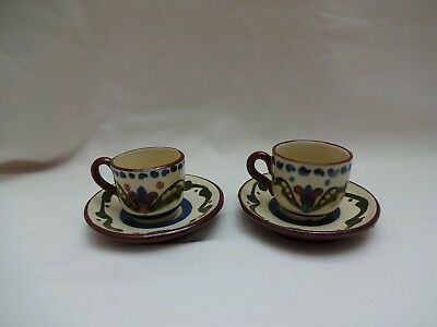 Longpark Torquay Miniature Cups And Saucers