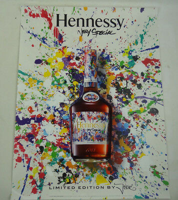 """New Hennessy Very Special Cognac 1765 Limited Edition JonOne Poster 24"""" x 18"""""""