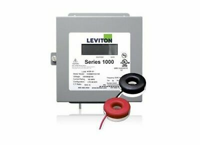 Leviton 1K240-2SW Indoor 120/240V Single Phase kWh Meter, 200A, 2 Solid Core CTs