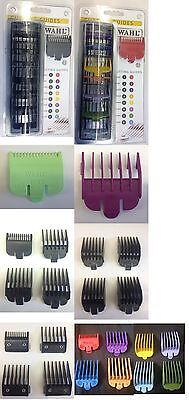 Wahl Comb Attachments 0.5 1 1.5 2 3 4 5 6 7 8 & 12 Sets, Plastic, Metal & Colour