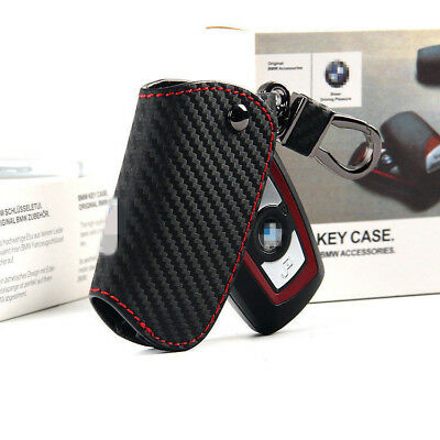 Geniue Leather Carbon ///M Sport Style Key Cover Bag Case For BMW 3 5 7 X3 X4