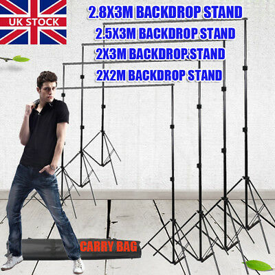 4 Sizes Photo Studio Heavy Duty Backdrop Stand Adjustable Background Support Kit