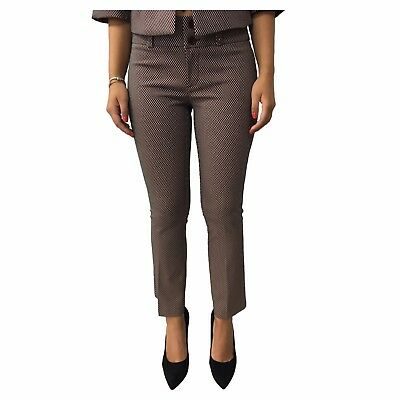TRY ME trousers women trompet fantasy burgundy/ecru MADE IN ITALY