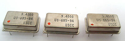 9.4000-Mhz Crystal Clock Oscillators: DIP Case Style: Lots of 3: Great Price