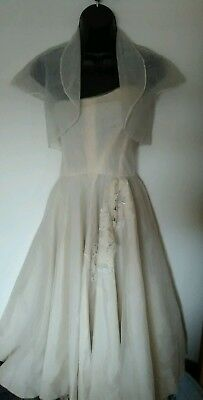 Vintage 1950s 60s William Cahill  Beverly Hills California Evening Dress  Formal