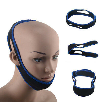 Adjustable Anti Snoring Chin Strap Jaw Sleep Aid Belt Snore Apnea FIX Support UK