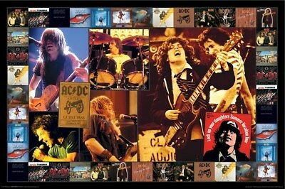 AC/DC ~ ALBUM COVERS SCRAPBOOK ~ 24x36 MUSIC POSTER ~  AC DC Angus Young