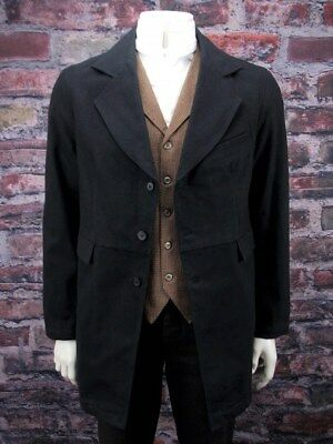 Frontier Classics old west world son gunfighter pioneer black coat sizes 38-52