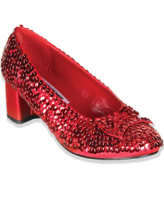Dorothy Ruby Red Sequined Girls Shoes