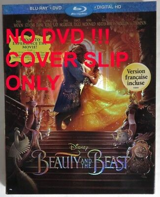 No Discs !! Beauty & The Beast Blu-Ray Cover Slip Only - No Discs !   (Inv14664)