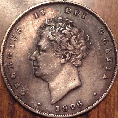 1826 Uk Gb Great Britain Silver Shilling