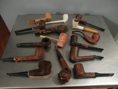 Vintage Lot of 15 Estate Pipes #2
