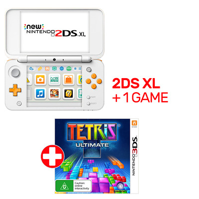 Nintendo New 2DS XL Console White & Orange + 1 Game - Nintendo 3DS - BRAND NEW