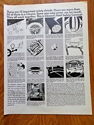 1968 Citroen Ad these are 12 Important Safety Details