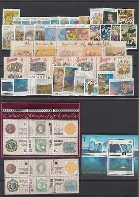 1990 year collection of 50 stamps + 2 x miniature sheets. MUH/MNH and cheap