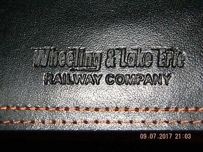 Wheeling and Lake Erie Railway Genuine Leather Business Card Holder