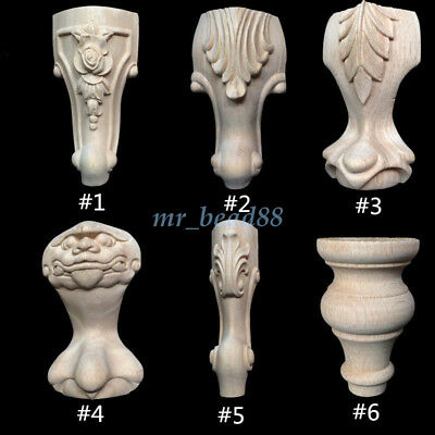 European Style Wood Carved Furniture Foot Leg Unpainted for Cabinet Sofa Chair