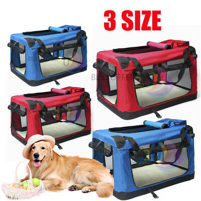 L XL XXL Fabric Soft Dog Pet Puppy Portable Carrier Crate Kennel Travel Bag Cage