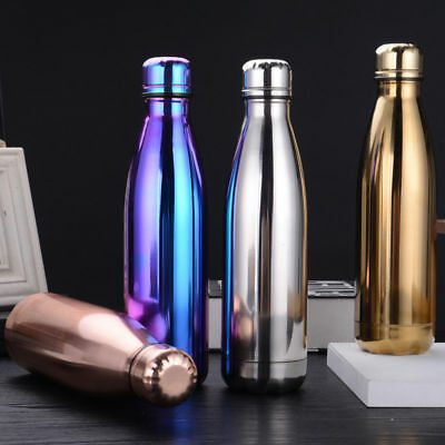 500ML Vacuum Double Wall Insulated Stainless Steel Flasks Bottle Thermos Water