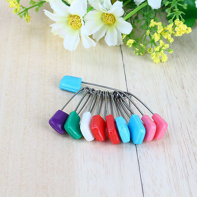 Hotsale 20pcs Safety Locking Baby Cloth Nappy Diaper Craft Pin UK