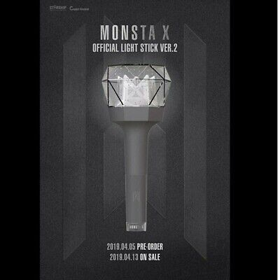 MONSTA X OFFICIAL LIGHT STICK FOR CONCERT NEW VER.2 + Free Traking Number