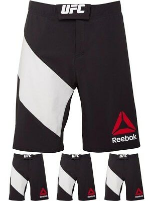 BRAND Reebok Mens UFC Octagon Shorts Black/Chalk Small Waist 30""