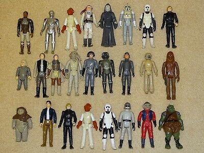 25 Vintage Star Wars Figures - Played With
