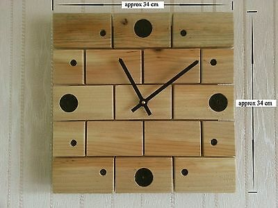 Upcycled / Recycled Pallet Wood Wall Clock Handmade