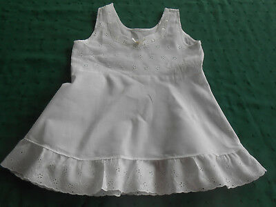 Antique Baby Slip In Good Condition With Eyelet Bodice And Trim, Circa 1940