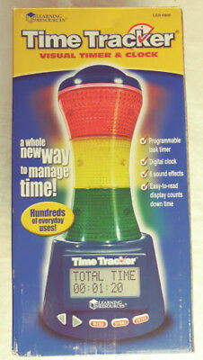 Learning Resources Time Tracker Visual Timer and Clock LER 6900 #5301
