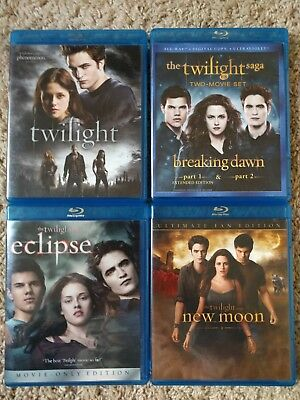 The Twilight Saga Complete Collection Blu-Ray Bundle Lot movies