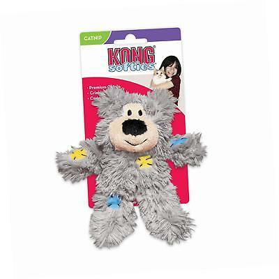KONG Softies Patchwork Bear Cat Toy (Assorted Designs)
