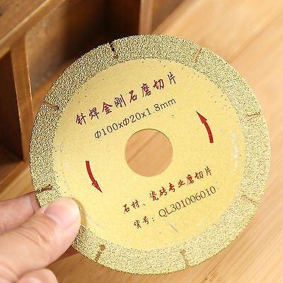 "4"" Diamond Coated Saw Blade Cut Off Cutting Wheel Disc Golden Grit 46 Coarse 1pc"