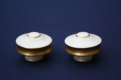 Lenox Salt and Pepper Shakers with 24K Gold Trim