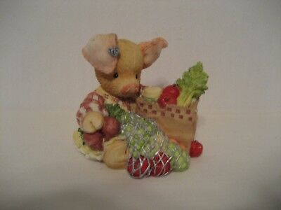 "This Little Piggy(TLP) ""This Little Piggy Went To The Market""-1994 Enesco Resin"