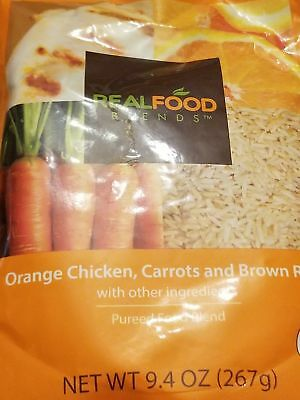 Real Food blends orange chicken, carrots and brown rice box of 12