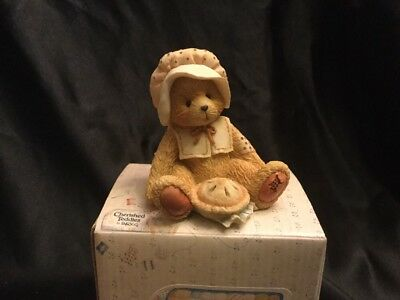 Enesco Cherished Teddies Nicole Thanks For Friends November Bear Figurine 914851