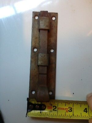 "6 "" Barn Door Slide Lock Gate Latch Dead Bolt 1/2"" square shaft--vintage"