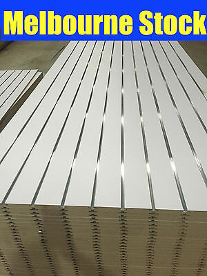 NEW SLATWALL SLAT WALL PANEL SHOP SHELF DISPLAY BOARD WALLS  2440 (W)x1220mm (H)