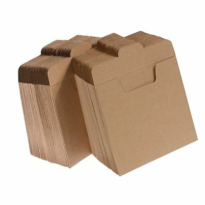 Vastar 100 Packs CD Sleeves Kraft Paper DVD Envelopes CD Paper Cardboard Kraf...