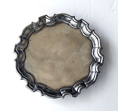 Antique English George II George Hindmarsh Silver Salver 1734 - 5.75 inches
