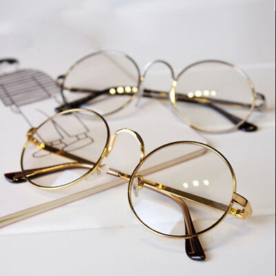 Retro Big Round Mens Womens Clear Lens Glasses Designer Nerd Spectacles Eyeglass