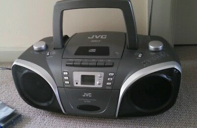 JVC Portable CD Player Boombox LCD  AM FM Radio MP3 Audio Tape Cassette Player