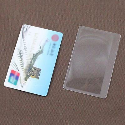 10PCS 3X Magnifier Credit Card Magnification Magnifying Fresnel Lens Reading DC