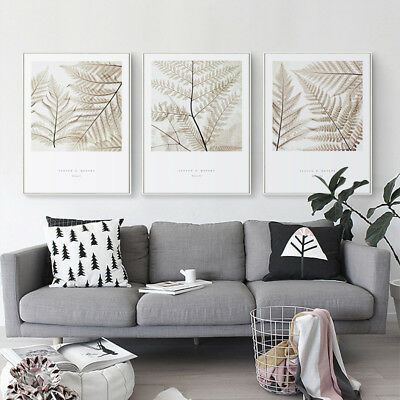 Plants Leaves Canvas Art Vintage Posters Minimalist Prints Home Wall Decoration