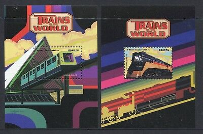 Gambia 1998 Trains of the World Set of 2 MS MNH