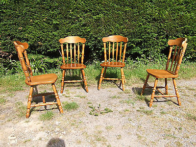 set of 4 wooden kitchen / dining chairs