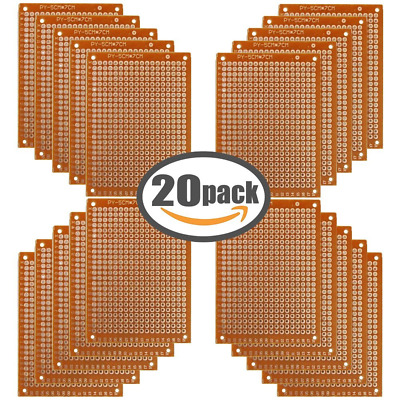 Copper Perfboard 20 PCS Paper Composite PCB Boards (5 cm x 7 cm) Universal Bread