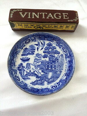 🌟 George Jones Crescent Blue White Japanese Pagoda Scene Butter Jam Dish