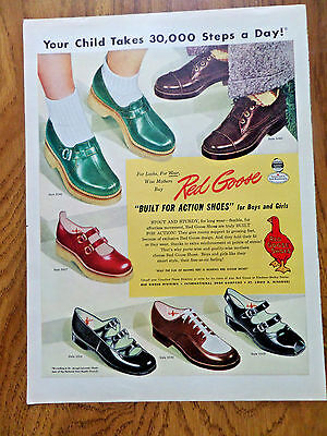 1950 Red Goose Shoes Ad Built for Action Shoes for Boys & Girls